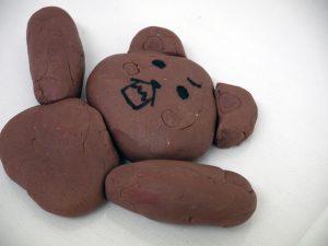 熊の粘土の写真