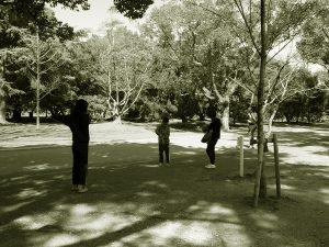 縄跳びの様子の写真