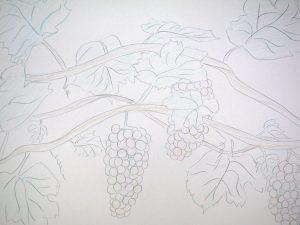 描いた葡萄の写真