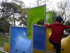 公園でかくれんぼの写真