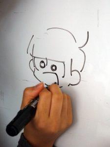 おそ松さんのイラストを描いている写真