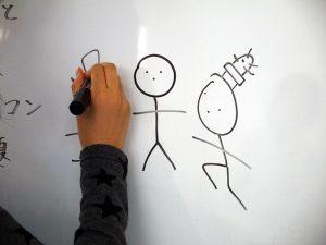 棒人間のイラストを描いているの写真